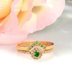 Bridal Sets Wedding Rings, 14k/18k Gold, Diamonds #jewelry #ring @EtsyMktgTool #bridaldiamondring #engagementring #weddingringsset