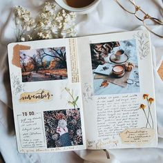 It's November already and I can't believe that we are only days away from Christmas. (con su permiso ire a escuchar canciones de Navidad) Bullet Journal Books, Bullet Journal Inspo, Bullet Journal Ideas Pages, Bullet Art, Bullet Journal Aesthetic, Creative Journal, Scrapbook Journal, Art Journal Inspiration, Mail Art