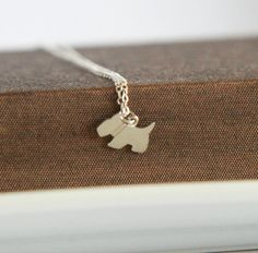 Cute Puppy Dog Pendant   Cute Necklace Dainty by lilabelledesign, $26.00
