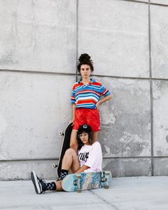 Right now, skate outfit is so commonplace in favorite culture, that'd it seem like fair game for those to put on. Skater Girl Style, Skater Girl Outfits, Skater Tattoos, Skateboard Outfits, Skateboard Clothing, Skate Clothing, Bff, Skate Girl, Skater Boys