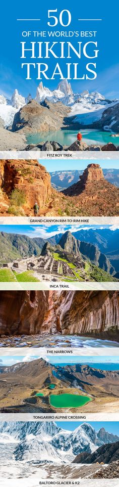 Click pin to discover the best hikes in the world | Best Hiking Trails in the World | #hiking #hikingadventures