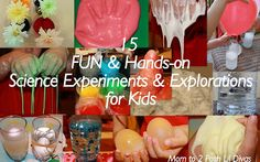 Summer is near & school is almost done - what will your kids be doing this summer to keep learning alive and still have fun over their summer break? Here are 15 FUN Science Experiments & Explorations for kids to enjoy over the summer! Lots of hands-on messy fun here! #Momto2PoshLilDivas