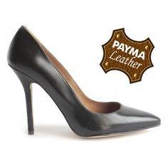 Stiletto piel negro 49,90€  www.calzadospayma.com