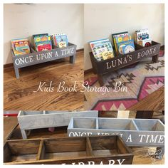 Image of Kids Book Storage Bin. Kids Book Storage Bin Approximately 36 inches long, 12 inches deep, and high. Kids Storage, Book Storage Kids, Kids Book Organization, Storage Bins, Organizing Books, Baby Toy Storage, Kids Bedroom Storage, Playroom Storage, Attic Playroom