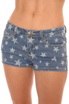 All Star Cutoff Demin Shorts american, usa, fourth of july, I'm Haute, fashion