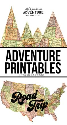 Adventure awaits -- take a road trip, explore new states! These adventure printables are a great reminder and make fantastic wall prints for the traveler. Road Trip Theme, Camping Theme, Road Trips, Rv Camping, Universal Studios Florida, Universal Orlando, School Themes, Classroom Themes, History Classroom