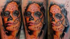 13 fotos de tatuagens de Catrinas - Parte 1