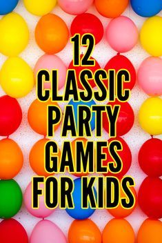 12 Awesome Party Games for Kids: Kid Approved Classics! 12 Classic Party Games for Kids: Simple to Play & Kid Approved! Easy Kids Party Games, Boy Party Games, Games For Boys, Kids Party Games Indoor, Kid Party Activities, Simple Games For Kids, Fun Games, Balloon Games For Kids, Family Games Indoor