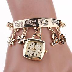 rectangular de línea 100% vestido de dama de la moda de lujo bracklet acero inoxidable reloj de pulsera de las mujeres (color surtidos) c&d-137 - USD $ 7.99
