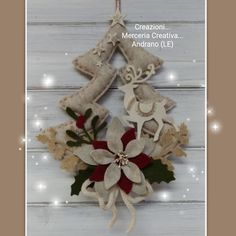 Christmas Toys, Winter Christmas, Christmas Themes, Christmas Wreaths, Christmas Decorations, Christmas Ornaments, Felt Crafts, Holiday Crafts, Holiday Decor