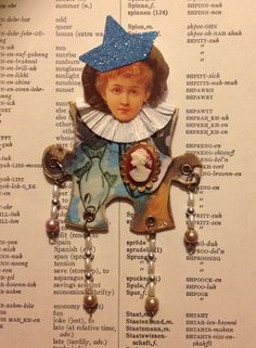 Paper Doll Altered Art Doll Altered Puzzle by FancifulCollections, $10.00