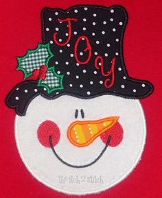I2S Snowman Face Applique