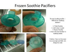 Diary of a Fit Mommy: DIY Frozen Pacifiers for Teething Babies