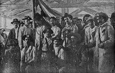 Cuban volunteers in the barracks Old Florida, State Of Florida, Guerra Hispano-americana, The Spanish American War, Spanish War, Economic Geography, Photo Exhibit, Puerto Rican Culture, Rough Riders