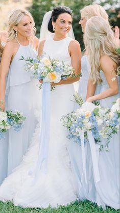 Light Blue Flowers, Light Blue Dresses, Turquoise Flowers, Flower Lights, Blue Wedding, Wedding Colors, Wedding Flowers, Wedding Dresses, Hyacinth Bouquet