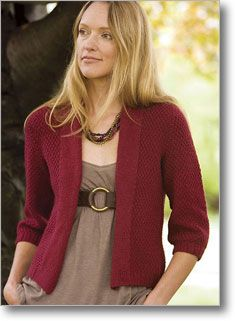 The Minimalist Cardigan is knit in allover moss stitch. By Ruthie Nussbaum.