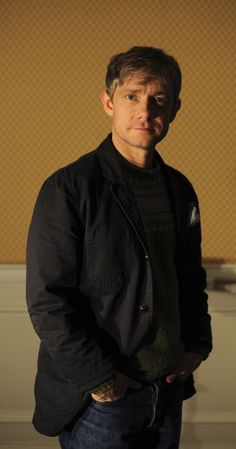 I adore this photo. It's a duplicate, but I don't care. Martin Freeman's worth it.