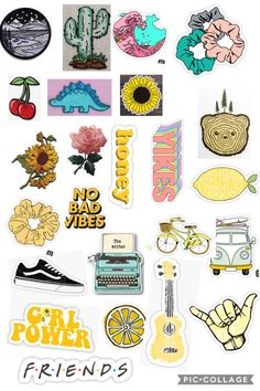 Stickers Cool, Cute Laptop Stickers, Tumblr Stickers, Printable Stickers, Journal Stickers, Planner Stickers, Homemade Stickers, Flower Phone Wallpaper, Simple Doodles