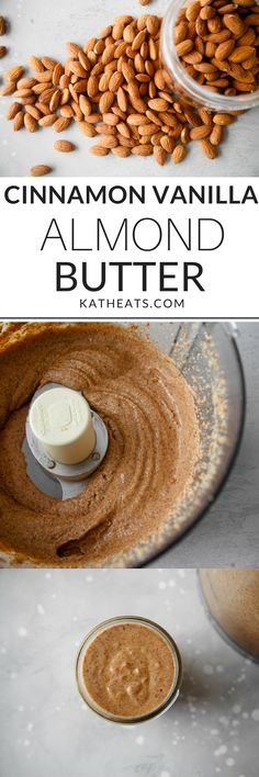 Making your own almond butter is SO easy - and the results are delicious! Here's my go-to Cinnamon Vanilla Almond Butter recipe! #almondbutter #healthyrecipes
