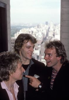 The Police (1979) - quite rare... seeing them smiling all together. Smiling wasn't cool in the early eighties! :-)