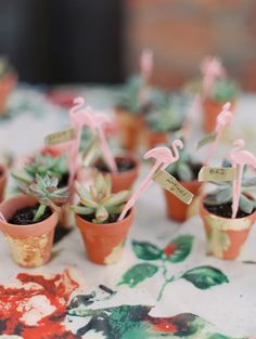 flamingo cactus wedding favors | boulder city nevada wedding | indie wedding inspiration | gaby j photography | st judes ranch chapel wedding | forge social house wedding