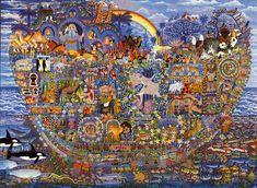 Plakat: Noas ark, illustreret af Esben Hanefelt Kristensen