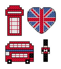 English Motif Cross Stitch Pattern