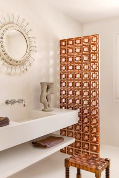 sfgirlbybay / bohemian modern style from a san francisco girl Bathroom Interior Design, Decor Interior Design, Modern Interior, Interior Decorating, Minimalist Bathroom, Modern Bathroom, Bathroom Layout, Contemporary Bathrooms, Style Deco
