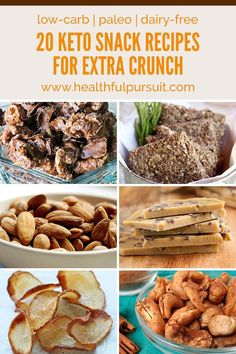 20 Crunchy Keto Snack Recipes - These health snacks are suitable for low carb and paleo diets too!