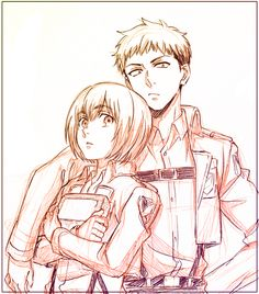 {I ship it way too much.. Obsessed, really.} Jean x Armin