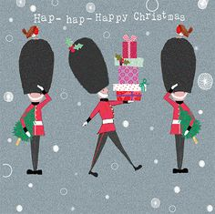 Hup, Hup, Hup! This lovely British themed card would easily bring a smile to junior and senior members of the family! #lovecards #xmas2014