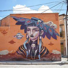 """New work by @lolo.ys """"Catrina"""" • San Miguel de Allende, Mexico"""