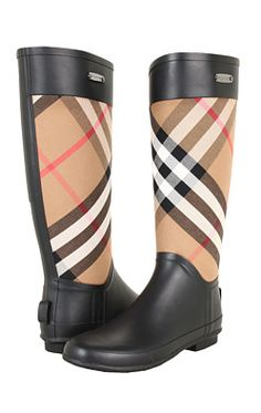 7aee6ca3f99 Burberry Check Panel Rainboots House Check - Fall must!