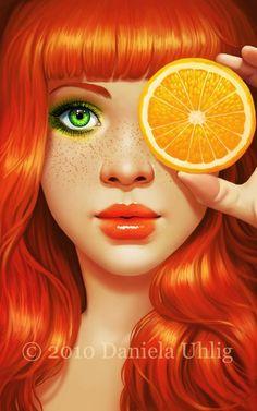 Red orange by lolita-art
