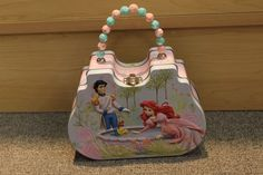 Ariel The Little Mermaid Tin Lunch/Purse Box - New - Girls - pink School box