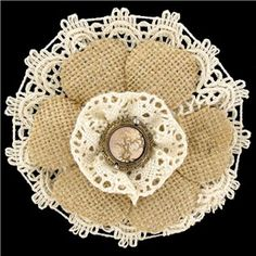Add color, texture and dimension to paper crafts and more with this dainty Large Burlap Lace Flower.