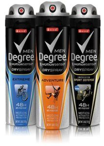 Degree Dry spray, deodorant for men