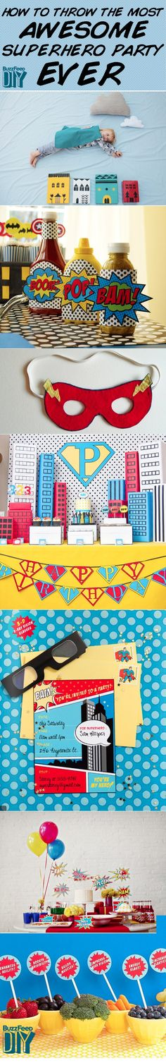 How To Throw The Most Awesome Superhero Party Ever @Sarah Chintomby Chintomby Chintomby Chintomby Chintomby Stark-Michaels