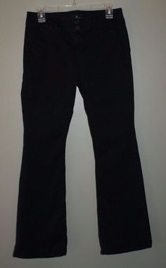American Eagle Outfitters stretch artist black pants womens size 4 regular #AmericanEagleOutfitters #KhakisChinos