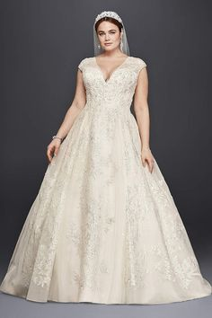 David S Bridal Has Beautiful Plus Size Wedding Dresses That Come