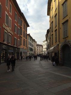 Bergamo via XX Settembre Italy