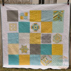 Strings Quilt Back by from the blue chair, via Flickr