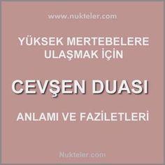 Cevşen duasıı Faziletleri Religion, Istanbul, Patterns, Desk, Prayer, Quotes