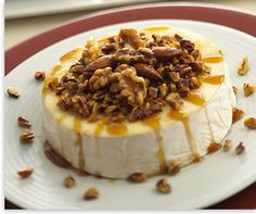 Alouette Brie with carmel nuts appetizer