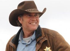 """The title character on 'Longmire,' played by Robert Taylor, """"has that Western rugged handsome look and his hat is part of his everyday life,"""" says the show's costume designer."""