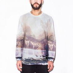 LEGENDARY LANDSCAPE unisex sweater Made on 100% cotton #breakingrocks #legendary #landscapes #sky #land #nature #animals