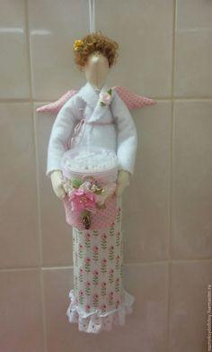 Купить Хранительница ватных дисков и палочек - ангел, тильда, хранительница дисков, кукла ручной работы