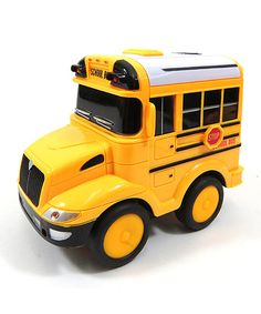 Look at this Yellow Remote Control School Bus Toy on #zulily today!