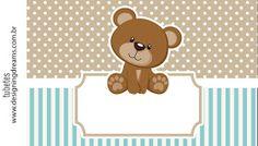 Teddy Bear for Boys: Free Printable Mini Kit. - Oh My Baby! Teddy Bear Baby Shower, Baby Boy Shower, Imprimibles Gratis Baby Shower, Scrapbook Bebe, Teddy Bear Birthday, Bear Theme, Baby Shawer, Baby Clip Art, Bear Party
