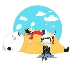 One Piece, Law, Luffy, Bepo